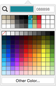 filemaker 14 color palette